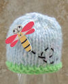 Innocent Smoothies Big Knit Hat Patterns Dragonfly Button