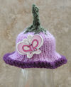Innocent Smoothies Big Knit Hat Patterns Flower and Butterfly button
