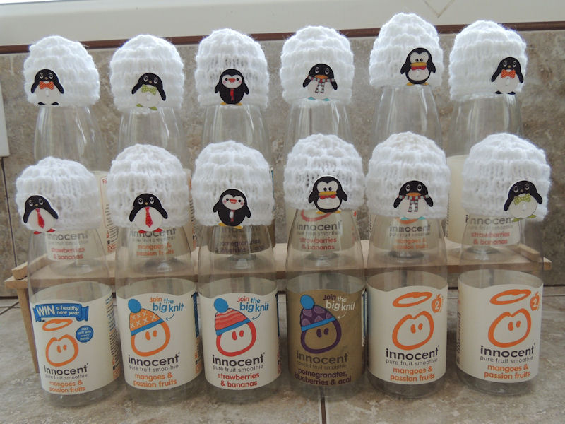 acb480c83 ... Innocent Smoothies Big Knit Hat Patterns Igloo Penguin Button ...