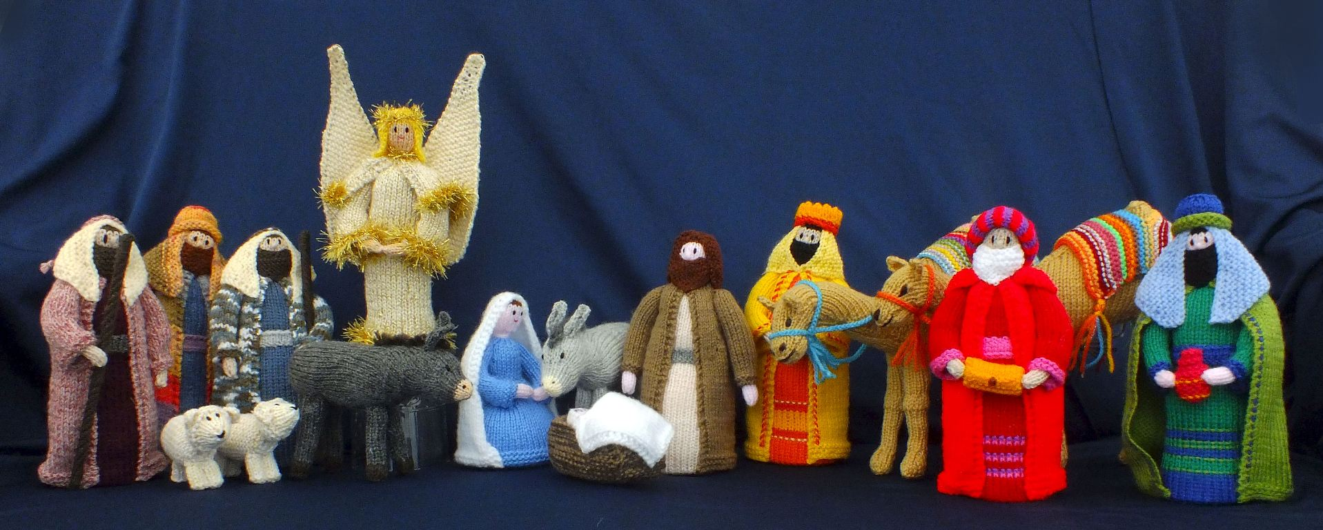 Knitting Pattern Christmas Crib Nativity Scene Booklet : Knitted Nativity Set