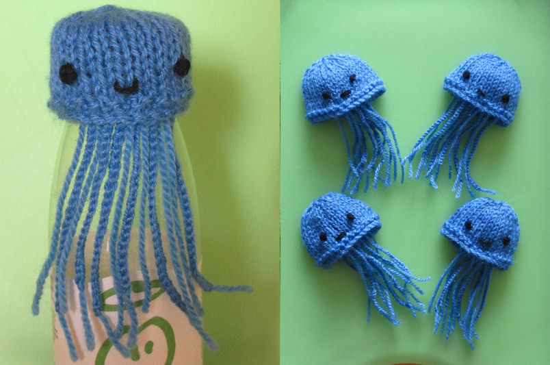 Knitting Pattern For Jellyfish : Innocent Smoothies Big Knit Hat Patterns Jellyfish