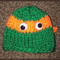 Knitting Pattern Turtle Hat : Innocent Big Knit Hat Patterns - Ninja Turtle